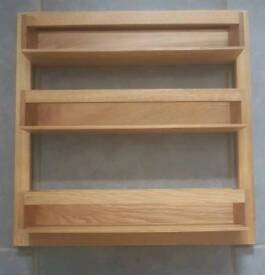 Brand new wooden spice rack
