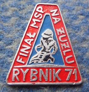 FINAL WORLD CHAMPIONSHIPS PEER SPEEDWAY POLAND RYBNIK 1971 PIN BADGE - <span itemprop='availableAtOrFrom'>Wroclaw, Polska</span> - FINAL WORLD CHAMPIONSHIPS PEER SPEEDWAY POLAND RYBNIK 1971 PIN BADGE - Wroclaw, Polska