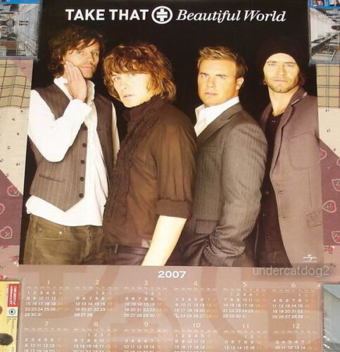 Take That Beautiful World Taiwan Promo 2007-Year Calendar Poster