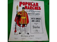 """POPULAR MARCHES - """"WITH SWORD AND LANCE"""" PIANO SCORE"""