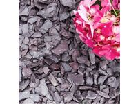 Plum / Grey Slate Chippings (gravel aggregates)