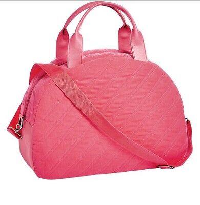 Grande Handbag Bag - Ariana Grande Fragrances Pink Quilted Travel Overnight Duffle Bag Handbag Purse