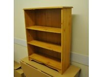Small set of solid pine bookshelves -- ideal for student -- BARGAIN