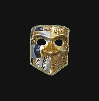 Mask Venice Bauta Art Deco Gold and Black Authentic Venetian 482