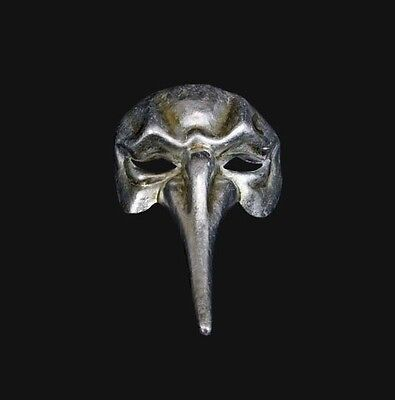 Mask from Venice Venetian Nasone Long Nose Silver Paper Mache Authentic 362
