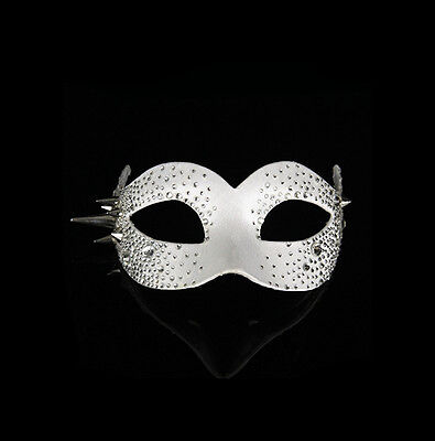 Mask Venice Colombine Bling Bling Luxury Wolf White Fancy Dress Venetian 518