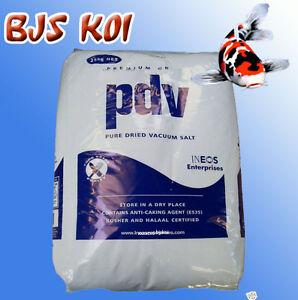 Pdv pond salt 25kg bag koi fish winter treatment ebay for Salt in koi pond