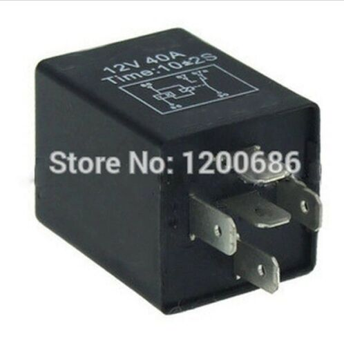 Time Delay Relay 30A Automotive 12V 5 Pins 5/10 seconds ON Delay Relays SPDT New