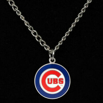 - Chicago Cubs Chain Necklace Team Logo Enamel Charm Pendant Jewelry for Men Women