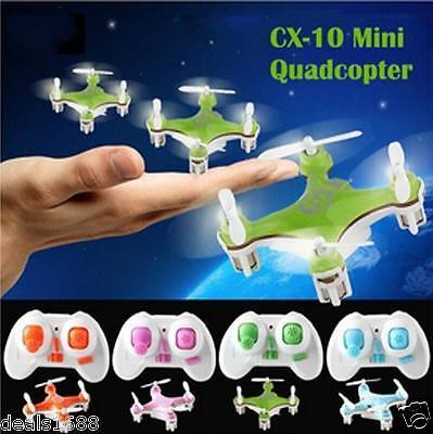 Cheerson CX-10 Mini 2.4Ghz 4CH 6-Axis GYRO Nano RTF LED RC Quadcopter UFO Drone
