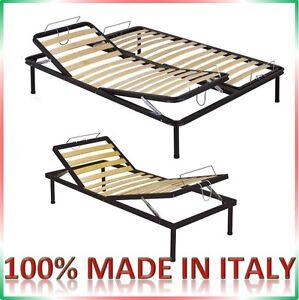 Rete letto reclinabile a doghe alzatesta piedi manuale recliner no elettrica - Piedi per rete letto ...