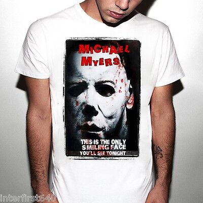 Michael Meyers-halloween (scarry, zombie t shirt, Michael Meyers, Halloween, horror, freddy krueger, new)