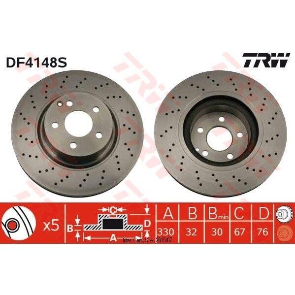 Bremsscheibe, 1 Stück TRW DF4148S