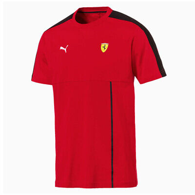 Puma Scuderia Ferrari Mens T7 T-Shirt Fan Tee Casual Top Red 576702 01