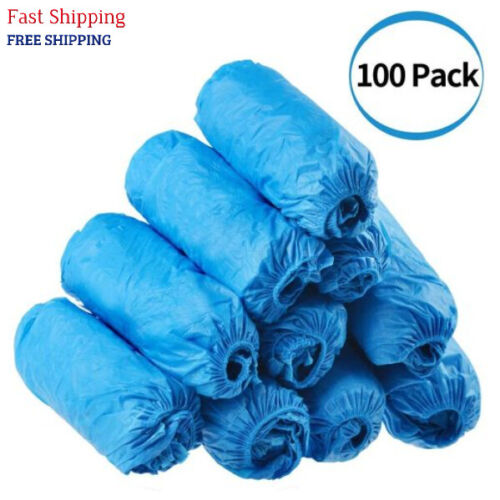 100 Pack Disposable Hygienic Shoe & Boot Covers Indoor Carpet Floor Protection