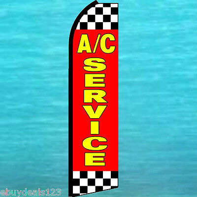Ac Ac Service Flutter Feather Flag Swooper Vertical Advertising Sign Bow Banner