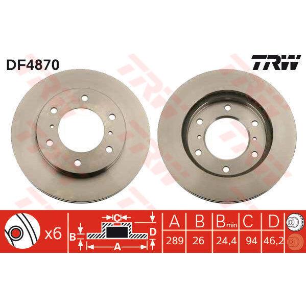 Bremsscheibe, 1 Stück TRW DF4870