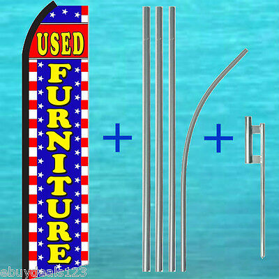 Used Furniture Swooper Flag 15 Tall Pole Mount Kit Flutter Feather Banner Sign