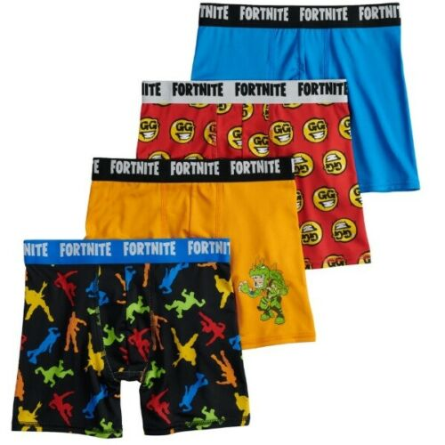 Boys Size 10 Fortnite Underwear Boxer Briefs Athletic 4 Pack NEW