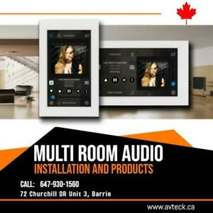 Speakers home theater multi room Audio Installation