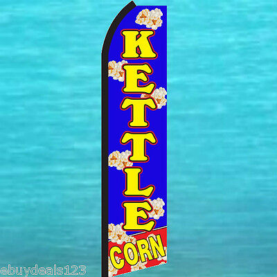 Kettle Corn Swooper Flag Tall Flutter Feather Popcorn Advertising Sign Banner