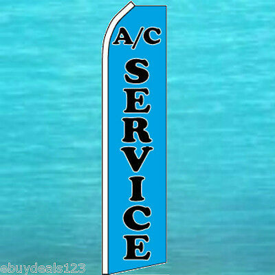 Ac Service Flutter Flag Auto Repair Advertising Sign Feather Swooper Bow Banner