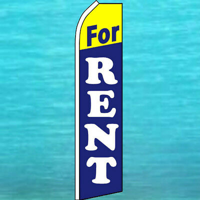 For Rent Flutter Flag Tall Real Estate Advertising Sign Feather Swooper Banner