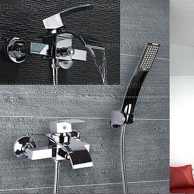 Wasserfall Wasserhahn Wassertisch Badewanne Regenbrause Wandhalterung Armatur DE