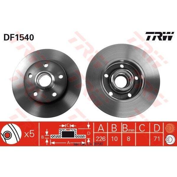 Bremsscheibe, 1 Stück TRW DF1540