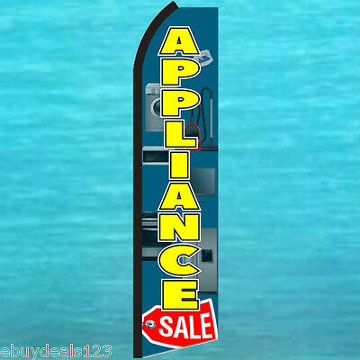 Appliance Sale Red Tag Flutter Feather Flag Swooper Advertising Sign Bow Banner