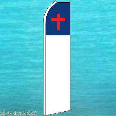Christian Flutter Flag Feather Swooper Tall Church Advertising Sign Banner 1779