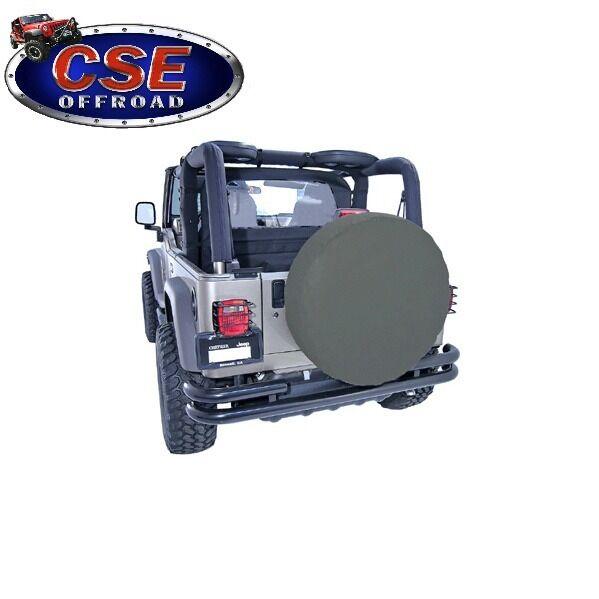 "Spare Tire Cover 30/""-32/"" Khaki for Jeep CJ Wrangler YJ TJ 12802.36 Rugged Ridge"