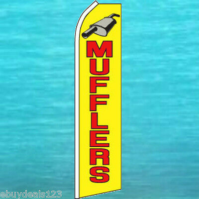Mufflers Flutter Feather Flag Tall Vertical Advertising Sign Swooper Banner 1817