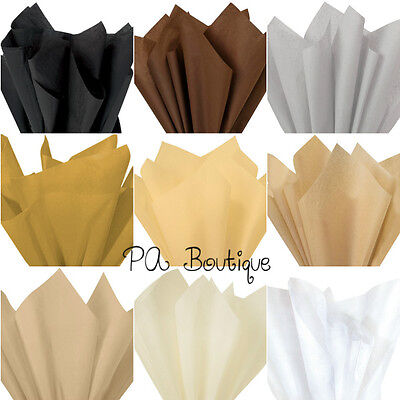 """*9 COLORS!!* Tissue Paper for Gift Wrapping 20""""x26"""" Solid Sheets YOUR CHOICE!"""