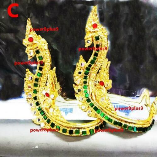 Armlet Thai Vintage Gold Bracelet Indian Dance Costume Dress Women Girl Accessor