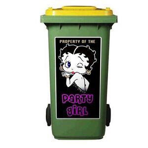 PARTY-GIRL-WHEELIE-BIN-STICKER-For-a-120-Litre-bin