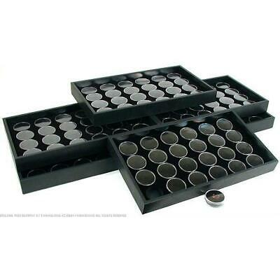 6 24 Black Gem Jars Display Inserts & Travel Trays