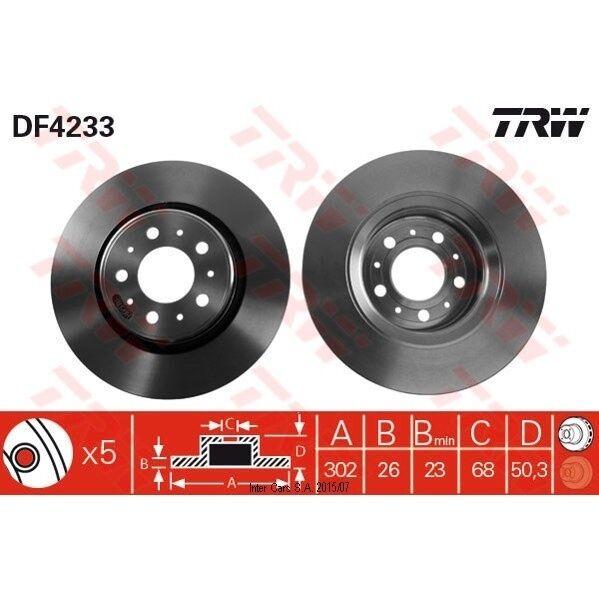Bremsscheibe, 1 Stück TRW DF4233