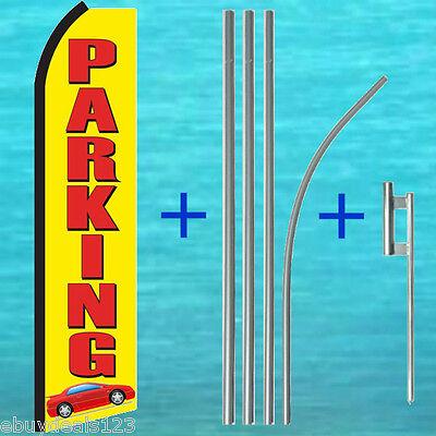 Parking Flutter Flag Pole Mount Kit Advertising Sign Feather Swooper Banner