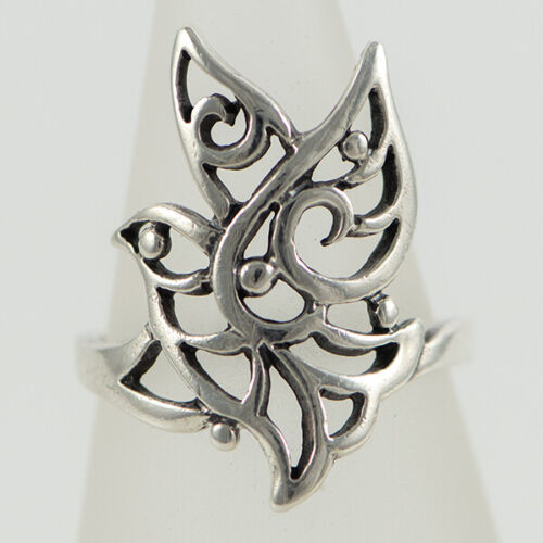RETIRED! James Avery Sterling Silver Capistrano Open Work Dove Vintage Ring