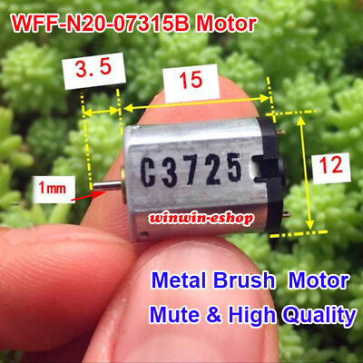 Dc 3v12v 5v 6v 9v 22000rpm High Speed Mini Silent N20 Motor Diy Hobby Toy Model