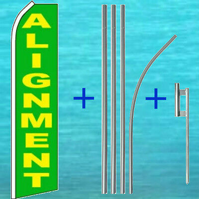 Alignment Flutter Flag 15 Tall Pole Mount Kit Feather Swooper Banner Sign 1006