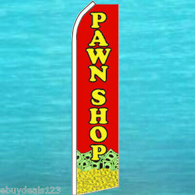 Pawn Shop Flutter Flag Tall Vertical Advertising Sign Feather Swooper Banner