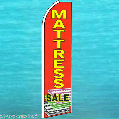 Mattress Sale Red Flutter Feather Flag Furniture Sign Bow Banner Swooper 30-1543