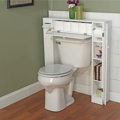 Bathroom Furnishings Elbow-room Saver Over The Toilet Storage Council Organizer New-fashioned