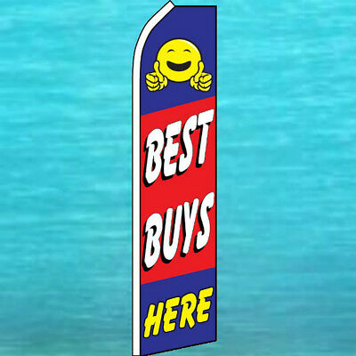 Best Buys Here Flutter Flag Used Cars Advertising Sign Feather Swooper Banner