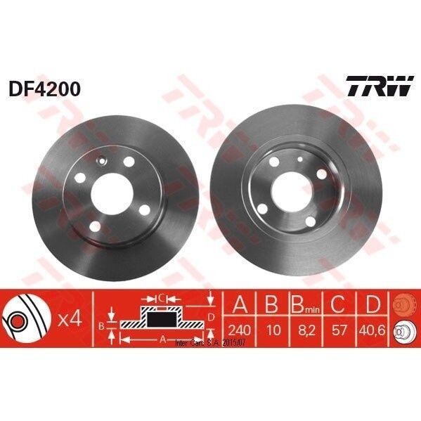 Bremsscheibe, 1 Stück TRW DF4200