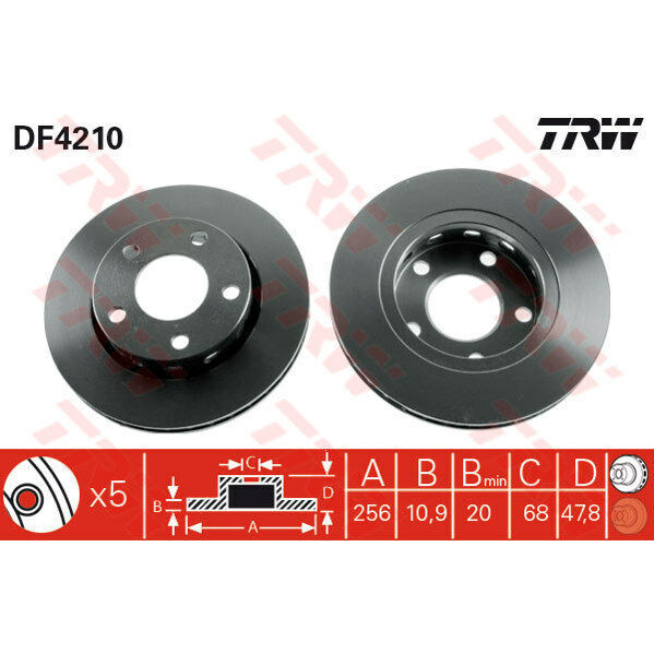 Bremsscheibe, 1 Stück TRW DF4210