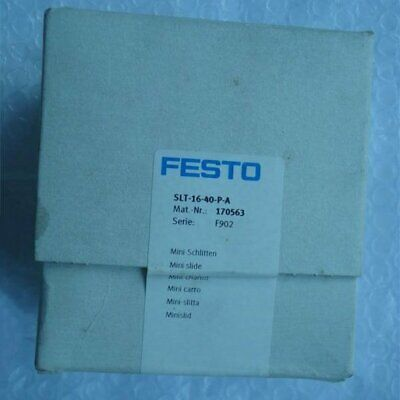 One New Festo Slt-16-40-p-a 170563 Slide Cylinder In Box Spot Stock