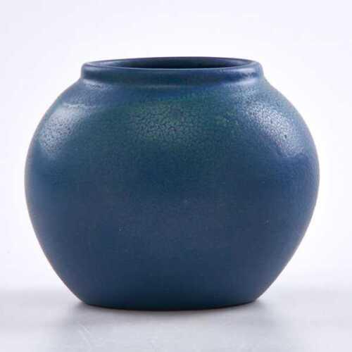 """Antique 1905 Van Briggle Vase VGC  #209 5 1/4"""" Arts Crafts mottled blue & green"""